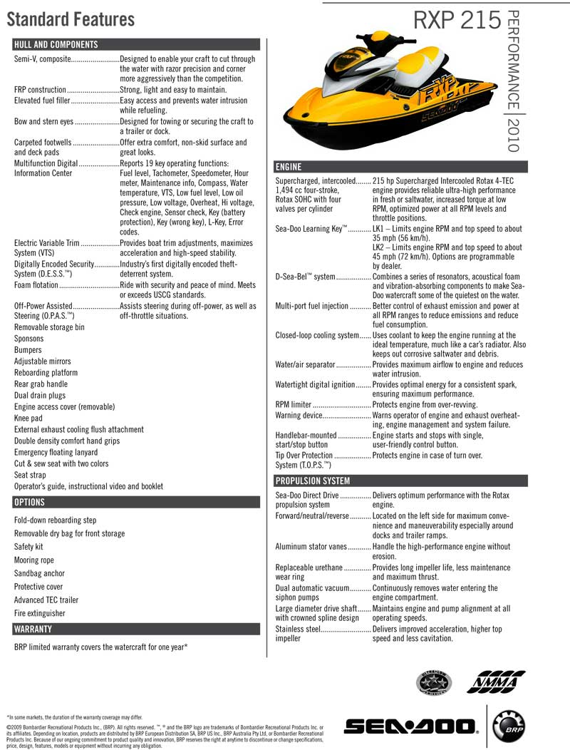 Sea Doo Brp Rxp 215 Manual
