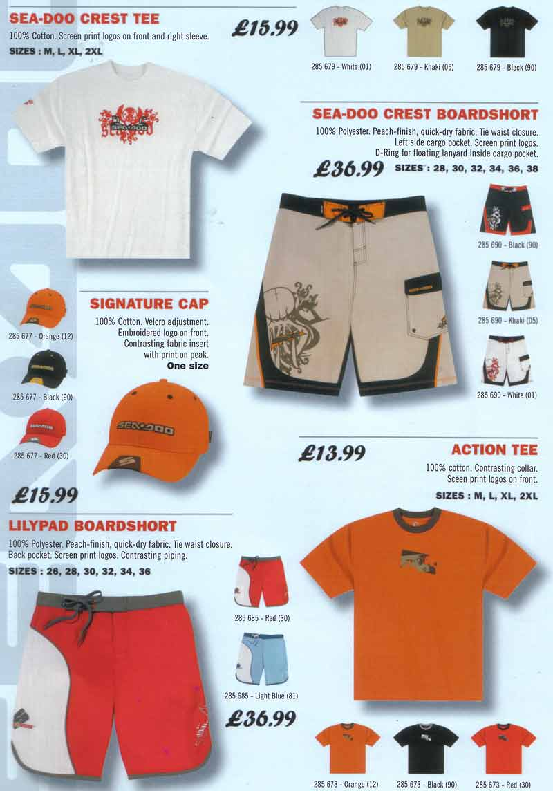 sea doo clothing